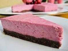 Raw Raspberry Cheese Cake. No dairy here