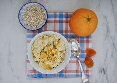 Overnight porridge orange-coco-abricot Menu, Orange, Eggs, Breakfast, Food, Pistachio, Seasonal Recipe, Menu Board Design, Morning Coffee