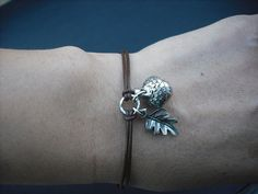 Ready to Ship  a little acorn bracelet   antique by Lana0Crystal, $21.00