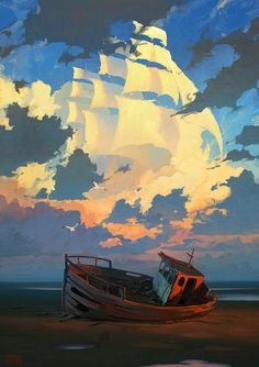 love this, the clouds as sails