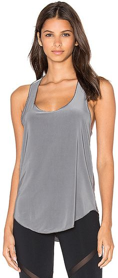 Steal Grey Flow Tank, perfect for workouts, moisture wicking... #workout #workoutgear #affiliate #tanktop #gymstyle #activewear