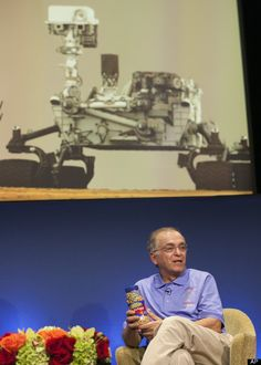 "Charles Elachi  NASA Jet Propulsion Laboratory (JPL) director Charles Elachi presents a can of ""good luck"" peanuts during an overview of the status and plans for NASA's Science Mission Directorate at JPL in Pasadena, Calif"
