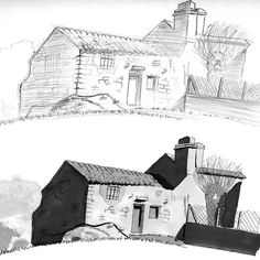Old house (2011)  An old house I drew in 2011 when I started Comic-book School and discover Promarkers.  Una vieja casa que dibujé en 2011 cuando empecé Garaxe Hermético y descubrí los Promarkers.  #house #blackandwhite #oldstuff #2011 #gray #promarker #pencil  #illustration #draw #sketch #drawing #art #artistsoninstagram #dailysketch  #cute #adorable #chibi #kawaii  #fanart #traditional #traditionalart #markers #ink #process