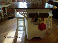 A dresser turned into a Kitchen Island...clever.