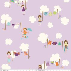 Riley Blake  Dress Up Days  Grape  Doohikey Designs  by Fabricity, $8.75