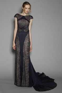 J.Mendel Resort 2013. The styling is kind of horrible but the gown is interesting.