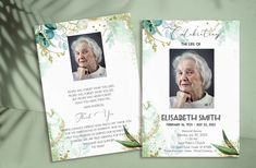 Funeral Program Template, Floral Memorial Program, Editable Memorial Service , Celebration of Life, Printable Funeral Program, YOU PRINT Program Template, Funeral, Celebration, Printables, Memories, Templates, Handmade Gifts, Life, Etsy