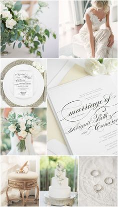 Champagne and Ivory Wedding Inspiration from Shine Wedding Invitations! #champagnewedding #elegant #classic #shineweddinginvitations
