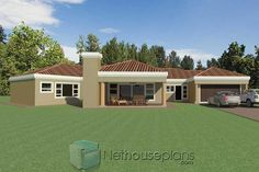 A 5 bedroom single storey house plan with garages for sale. Browse single storey floor plan designs online, house designs, modern house plan with photos. Cheap House Plans, House Plans For Sale, Free House Plans, House Plans With Photos, Garage House Plans, Family House Plans, House Floor Plans, Tuscan House Plans, Modern House Plans