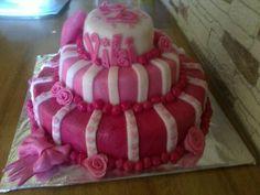 Pink cake for Viki's birthday