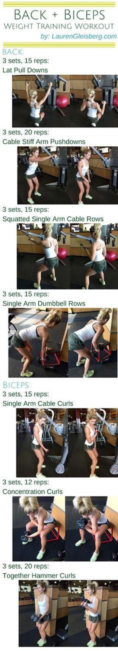 Day 31: Back & Biceps Weight Training Workout | #LGKickStartFit 2015 Health & Fitness Challenge by LaurenGleisberg.com