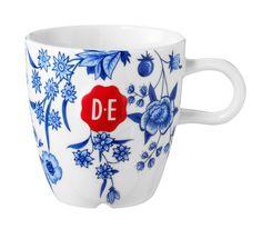 D.E Hylper cappuccinomok - wit blauw - white blue  #mok #mug #coffee #HylperHeritage #DouweEgberts