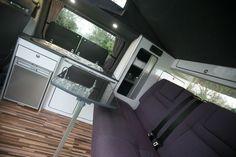 white gloss vw transporter t5 camper interior