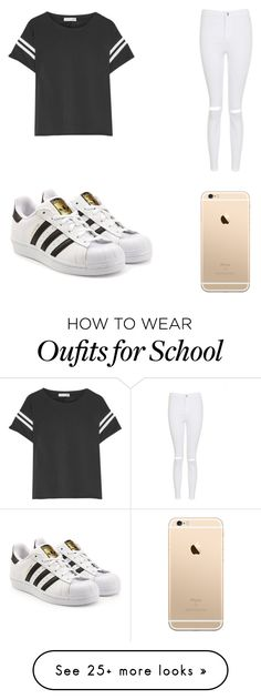 School by andreeadeea460 on Polyvore featuring rag  bone, Topshop and adidas Originals