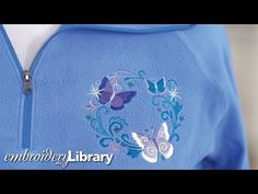 Embroidering on Fleece - YouTube