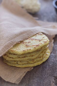 "<strong>Get the <a href=""http://slimpalate.com/cauliflower-tortillas-paleo-grain-free-gluten-free/"" target=""_blank"">Cauliflower Tortillas recipe</a> from Slim Palate</strong>"