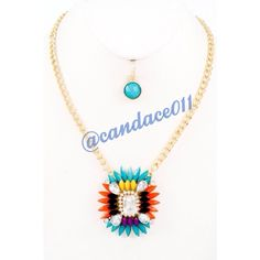 """Blue-Coral Necklace Set HP!!! ✳️Bundle to save 15%!✳️ Length: 18"""" Adjustable Gold color hardware Lobster claw closer Comes with Matching Blue Earrings Boutique  Jewelry Necklaces"""