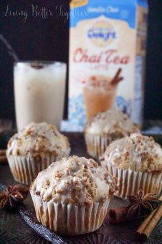 Vanilla Chai Crumble Muffins - Living Better Together