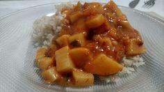 All vegan meal! Strogonoff de palmito com leite de aveia e arroz integral.
