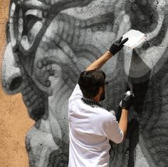 Upper Playground | El Mac honors 90 year old local man in Agdz, Morocco with a mural