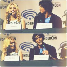 Bob Morley and Eliza Taylor {The 100 cast}