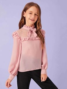 Girls Fashion Clothes, Tween Fashion, Little Girl Fashion, Fashion Outfits, Stylish Dresses For Girls, Little Girl Dresses, Girls Blouse, Kids Outfits, Cute Outfits