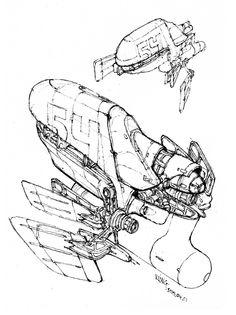 100 Spaceship Pen Sketches