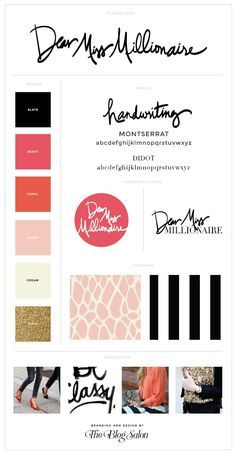 Just popping by to share one of the latest designs for Dear Miss Millionaire. Web Design, Website Design, Brand Design, Brand Style Guide, Elegant Business Cards, Graphic Design Branding, Typography Inspiration, Fashion Branding, Marketing