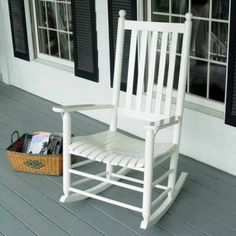 Find the rocking chair you've always wanted at Hayneedle. Our selection of rocking chairs includes a nursery rocking chair, wicker chair and wood rocking chairs. White Rocking Chairs, Vintage Rocking Chair, Rocking Chair Nursery, Outdoor Rocking Chairs, City Living, Living Spaces, Real Wood Furniture, Equestrian Decor, North Carolina Homes