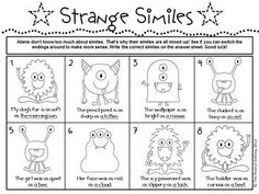 simile unit with 22 activity pages