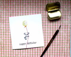Birthday Card, 7th Birthday Card, Seven year old birthday Card, 7 Birthday Card, Kids Birthday Card, Numbered Birthday Cards, Animal Card by BEEautifulcreatures on Etsy