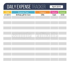Blank Expense Report 50 Best Daily Expense Tracker Images On Pinterest  Finance .