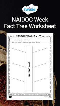 Use this resource to support students to record the new information they have learnt about NAIDOC Week. This fact tree can be used with the NAIDOC Week PowerPoint. Naidoc Week, Worksheets, Students, Cards Against Humanity, Facts, Teaching, Activities, Writing, Literacy Centers