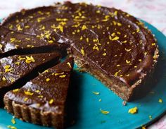 Livia's Chocolate & Orange Caramel Tart - DeliciouslyElla