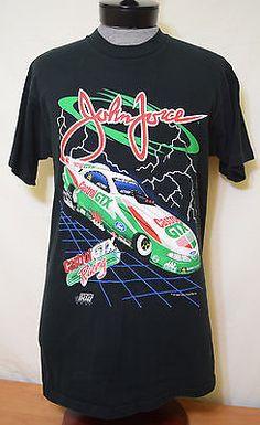 3668ab4eb8a Vintage John Force Large T-Shirt L 1997 NHRA Racing Castrol GTX Funny Car  Ford
