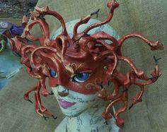 medusa mask | Medusa mask in red by ~faerywhere on deviantART