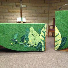 Green season chapel paraments