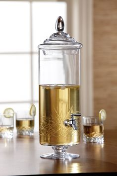 Clear Provence Glass Beverage Dispenser