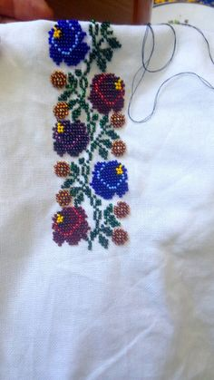 Folk Embroidery, Embroidery Fashion, Embroidery Patterns, Veronica, Romania, Brooch, Art, Loom Beading, Fabrics