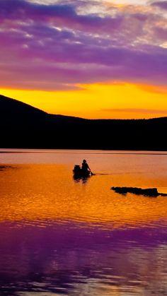 Nature Fantasy Purple Sunset