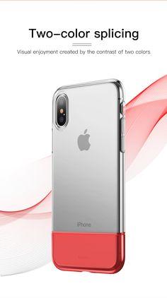 Baseus Protective Case For iPhone XS Hybrid Color Transparent Fingerprint Resistant Back Cover Pc Cases, Iphone Cases, Iphone Models, Pouch Bag, Protective Cases, Apple, Cover, Phone Accessories, Gadgets