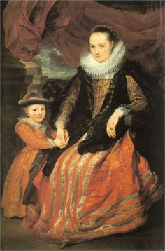 Anthony van Dyck, Portrait of Susanna Fourment and Her Daughter, 1620