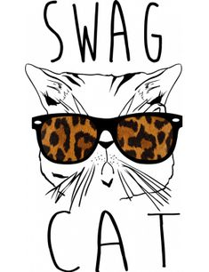 Swag, Clip Art, Retro, Cats, Funny, T Shirt, Supreme T Shirt, Gatos, Tee Shirt
