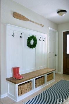 diy entryway mudroom, diy, foyer, organizing, storage ideas, woodworking projects