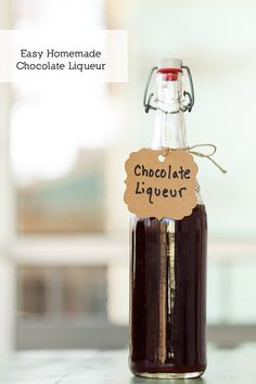 Easy and unbelievably delicious DIY Homemade Chocolate Liqueur!!