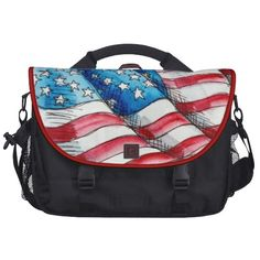 Happy birthday America july 4th 2013 messenger bag Laptop Computer Bag
