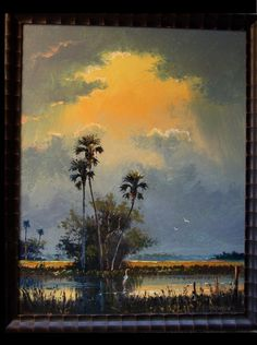 AfterTheStorm Tropical Art, Tropical Paradise, Old Florida, Florida Home, Men Art, Painted Walls, Watercolor Artwork, Sunsets, Landscape Paintings
