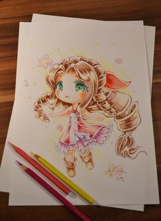 Aerith Chibi by Lighane on DeviantArt