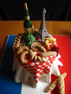 French themed Birthday cake | Flickr - Photo Sharing!