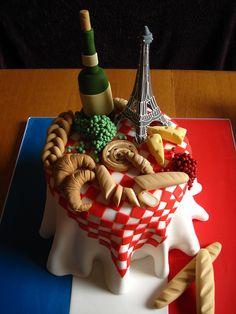French themed Birthday cake   Flickr - Photo Sharing!
